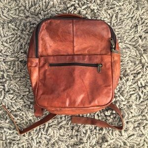 Handmade Leather Backpack from India